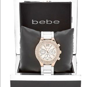 bebe Accessories - Bebe watch rose gold silver watch